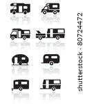 caravan or camper van symbol...   Shutterstock .eps vector #80724472