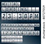 metal alphabet vector design   Shutterstock .eps vector #80727019