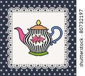 abstract illustration of teapot ... | Shutterstock .eps vector #80732197