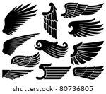 wings collection | Shutterstock .eps vector #80736805
