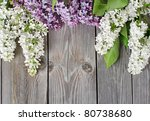 The Beautiful Lilac On A Wooden ...
