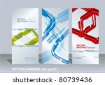 vector set banners on abstract...