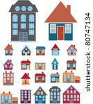 20 houses icons  signs  vector