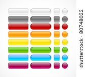 blank web glossy buttons.... | Shutterstock .eps vector #80748022