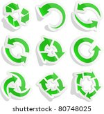 vector eps8 set of green sticky ... | Shutterstock .eps vector #80748025