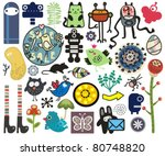 mix of different vector images. ... | Shutterstock .eps vector #80748820