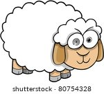 Crazy Insane Sheep Vector Illustration - stock vector