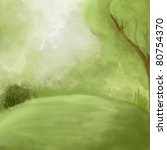 green landscape background   Shutterstock . vector #80754370