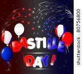 celebration of bastille day... | Shutterstock .eps vector #80756800