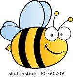 cute cartoon bee.vector...