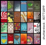 collection of colored vertical... | Shutterstock .eps vector #80771899