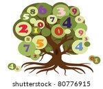 school tree vector.