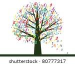 school tree vector.   Shutterstock .eps vector #80777317