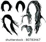 hair styling for women vector   Shutterstock .eps vector #80783467