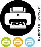 vector printer icon   Shutterstock .eps vector #80791369