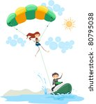 illustration of a couple... | Shutterstock .eps vector #80795038