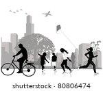 stock vector illustration  park | Shutterstock .eps vector #80806474