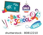 back to school  design elements | Shutterstock .eps vector #80812210