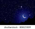 dark space nights sky with... | Shutterstock .eps vector #80815309