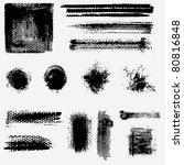 grunge design elements | Shutterstock .eps vector #80816848