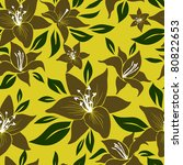 seamless floral pattern   from... | Shutterstock .eps vector #80822653
