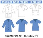 Medical Shirt Uniform Vector...