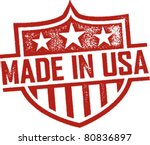 made in usa vintage shield... | Shutterstock .eps vector #80836897