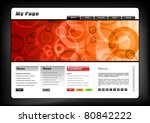 web template in black and orange