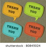 vintage speech bubble with... | Shutterstock .eps vector #80845024