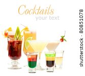 alcohol shot drink on fancy...   Shutterstock . vector #80851078