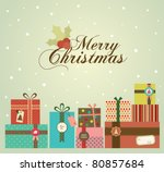 color background with christmas ... | Shutterstock .eps vector #80857684