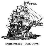 atlantic boat | Shutterstock .eps vector #80870995