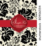 invitation card on floral... | Shutterstock .eps vector #80906554