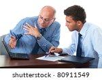 senior and junior businessman... | Shutterstock . vector #80911549