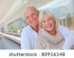 portrait of smiling senior... | Shutterstock . vector #80916148
