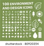100 Environment   Design Icons...
