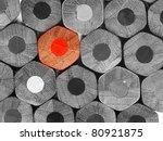 crayons stack texture  black... | Shutterstock . vector #80921875