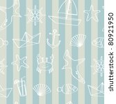 seamless nautical background | Shutterstock .eps vector #80921950
