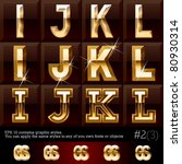 extra beveled gold font plus... | Shutterstock .eps vector #80930314
