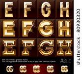 extra beveled gold font plus... | Shutterstock .eps vector #80930320