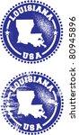 Louisiana USA Stamps - stock vector