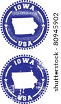 Iowa USA Stamps - stock vector