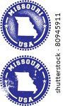 Missouri USA Stamps - stock vector