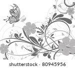 vector floral decorative... | Shutterstock .eps vector #80945956