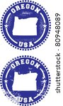 Oregon USA Stamps - stock vector