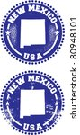 New Mexico USA Stamps - stock vector