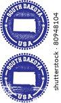 South Dakota USA Stamps - stock vector