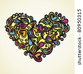 postcard with heart which... | Shutterstock .eps vector #80950315