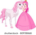 the beautiful princess and her... | Shutterstock .eps vector #80958868