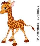 illustration of little funny... | Shutterstock .eps vector #80958871